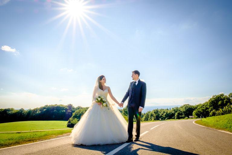 Brautpaarshooting, Hochzeitsfotograf Niederösterteich Tulbinger Kogel, Thomas MAGYAR | Fotodesign