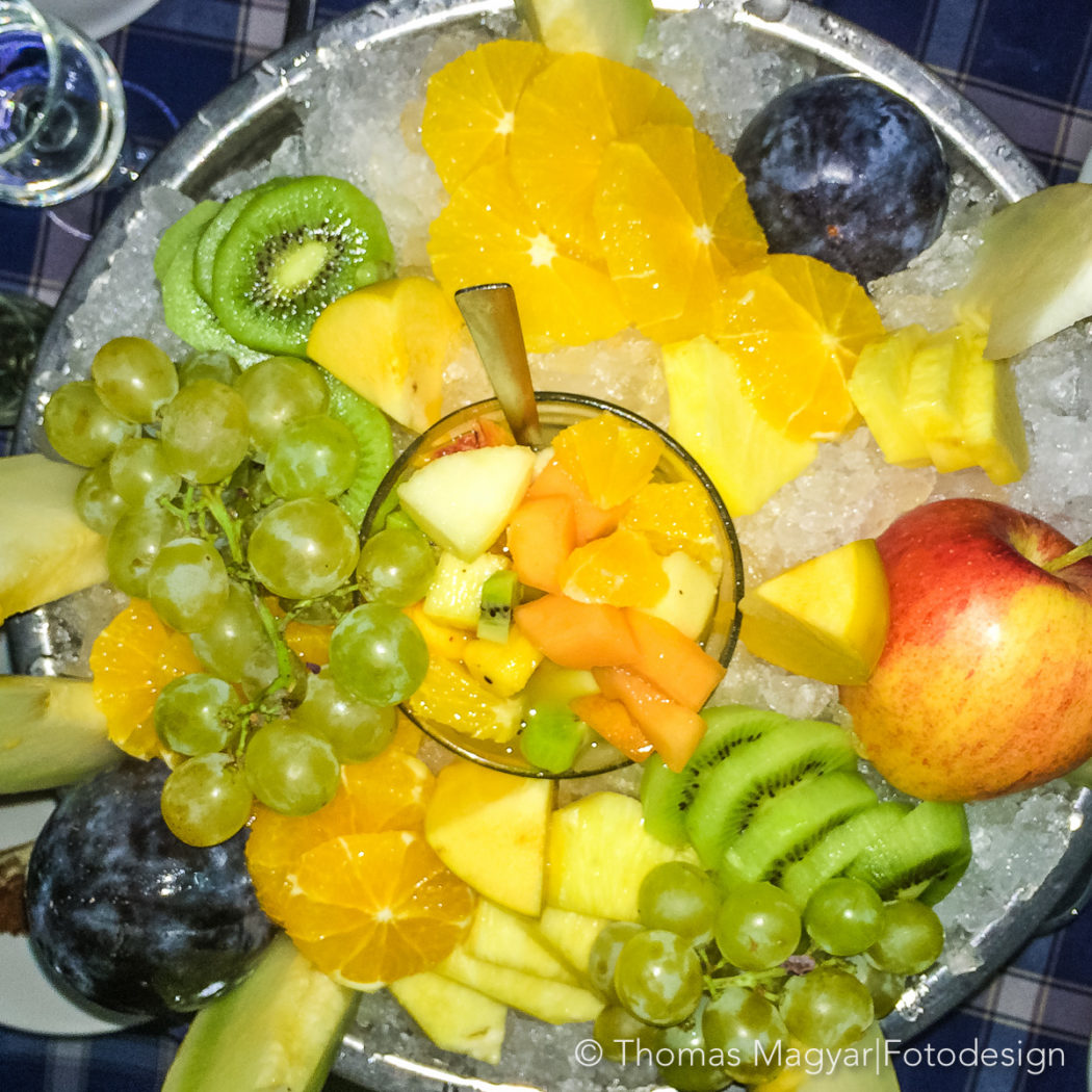 Früchteteller bei Quattro Mori, Rom